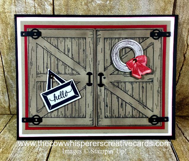 Card, Barn Door, Rustic, Farm Welcome,