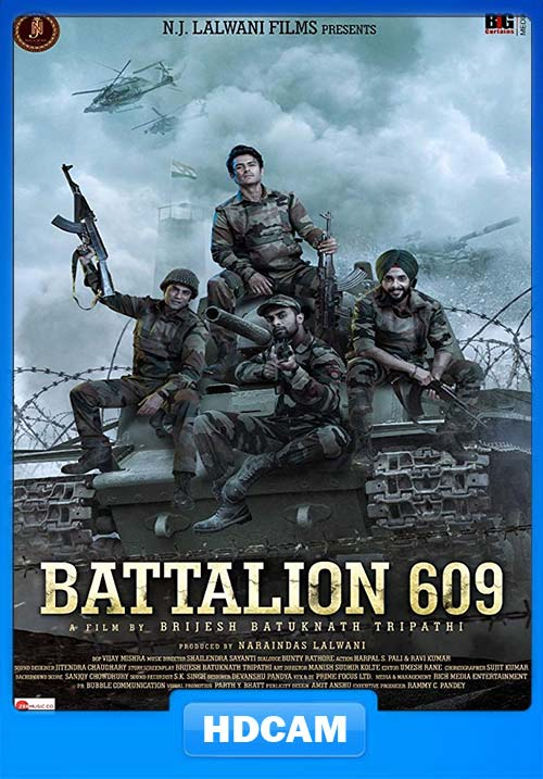 Battalion 609 2019 Hindi PRE DVD RIP x264 | 480p 300MB | 100MB HEVC