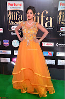Keerthi in Orange Anarkali Dress at IIFA Utsavam Awards 2017  Day 2  11.JPG