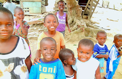 My Top Ten Ghana Scenes: A spontaneous group of children in the town of Dunkwa, Central Region (Photo: Kwei Quartey)