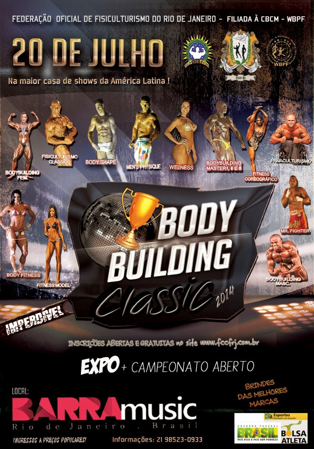 Bodybuilng Classic 2014. Foto: Divulgação