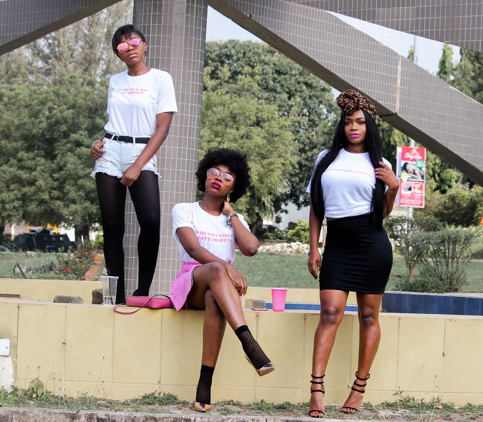 Abuja bloggers group 2 from the left to right include Kachi of Staples &  Style ,Bella of I am Brownie and Portia of Just Porsh ...