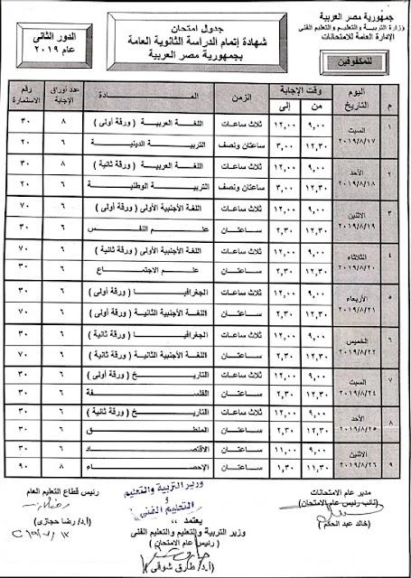 مواعيد امتحانات الملاحق 2019 جداول إمتحانات طلاب الدور الثانى