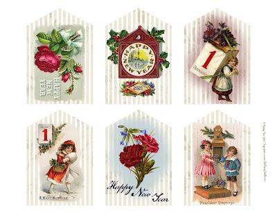 free printable new year's new years tags diy digital