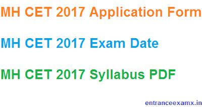 MH CET 2017 Exam Date