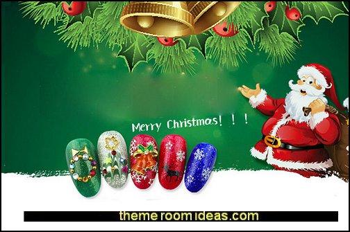 nail art - Christmas nails - Christmas nail stickers - Winter holidays nail design ideas - Christmas nail art - Christmas snowflakes snowmen nail art stickers - Christmas themed stickers nail art decals - cute nails - nail art design ideas - themed nail decals - cute nail decals - cute nail stickers - glitter