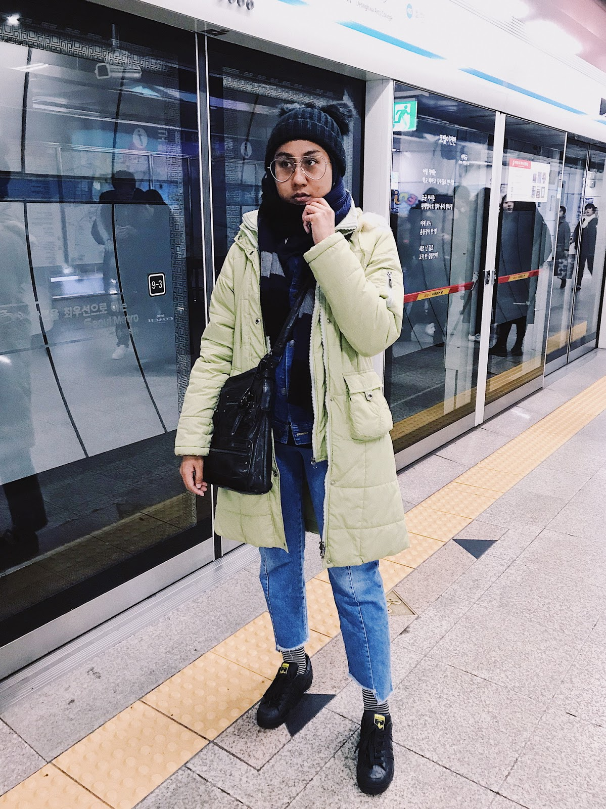 Instagram Outfit No Makeup All Bundled Up In Seoul Affordorable