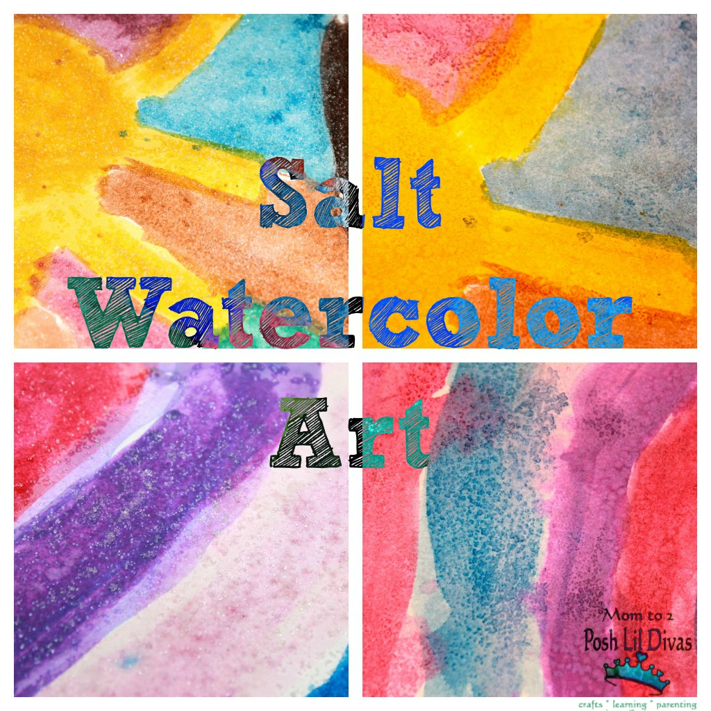What You Need Card Stock Or Other Firm Paper Table Salt Watercolors We Used Watercolor Cakes Can Also Use Liquid Paint Brushes