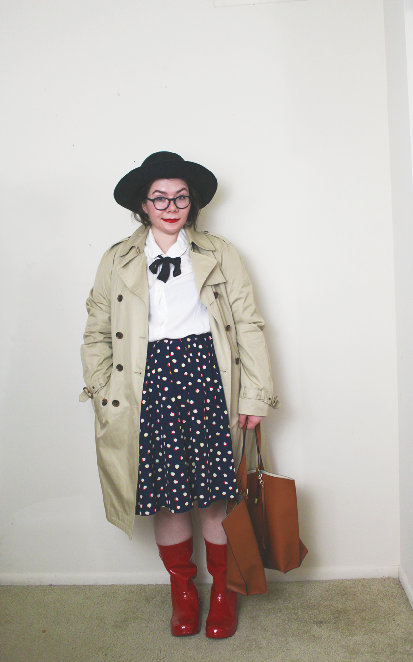 spring style, trench coat, outfit