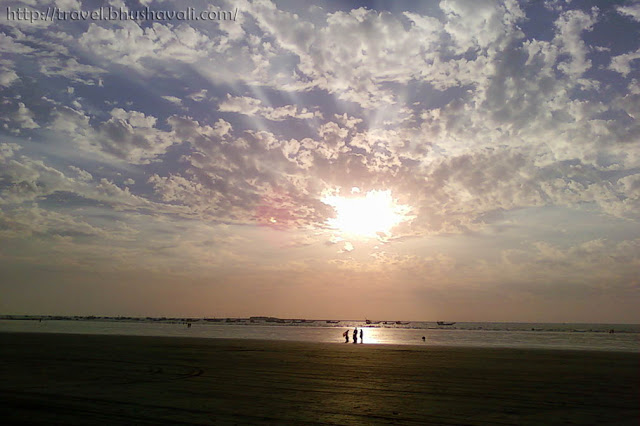 Romantic Sunset in Mumbai at Gorai Beach