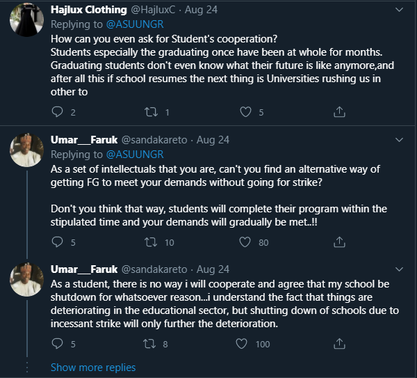 ASUU asks students for their co-operation - Students blasts them on twitter
