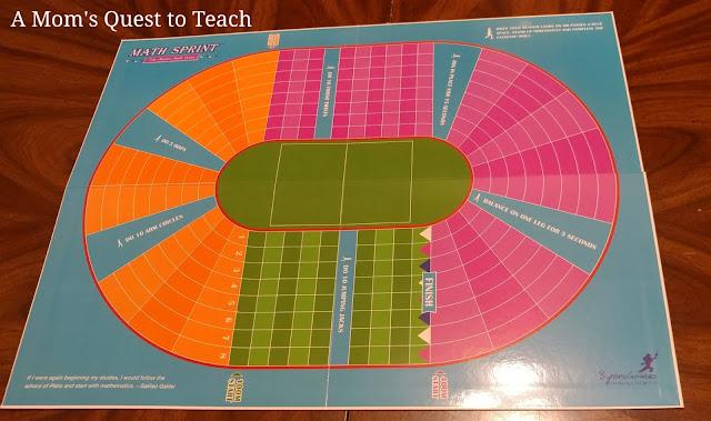 board game of Math Sprint