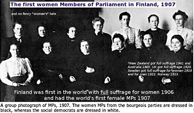 Klevius: Face it, Wikipedia/BBC etc. fake media - Finland was first in the world with full suffrage