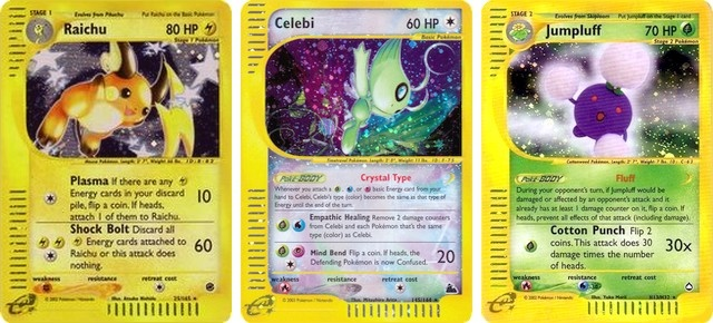 Cartas Pokémon TCG Série e-Card