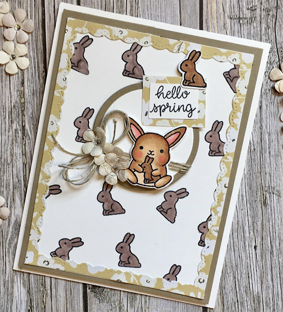 Sunny Studio Stamps: Chubby Bunny Customer Card by Kristy Ann