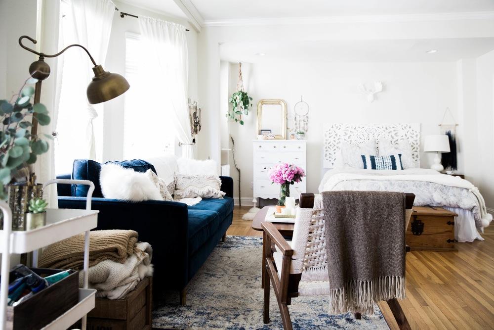 rustic bohemian studio apartment   My Never Ending Daydream: A Boho Chic Studio Apartment