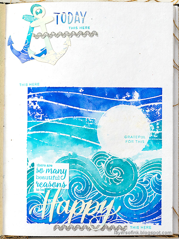 Layers of ink - Seascape Journal Page by Anna-Karin Evaldsson.