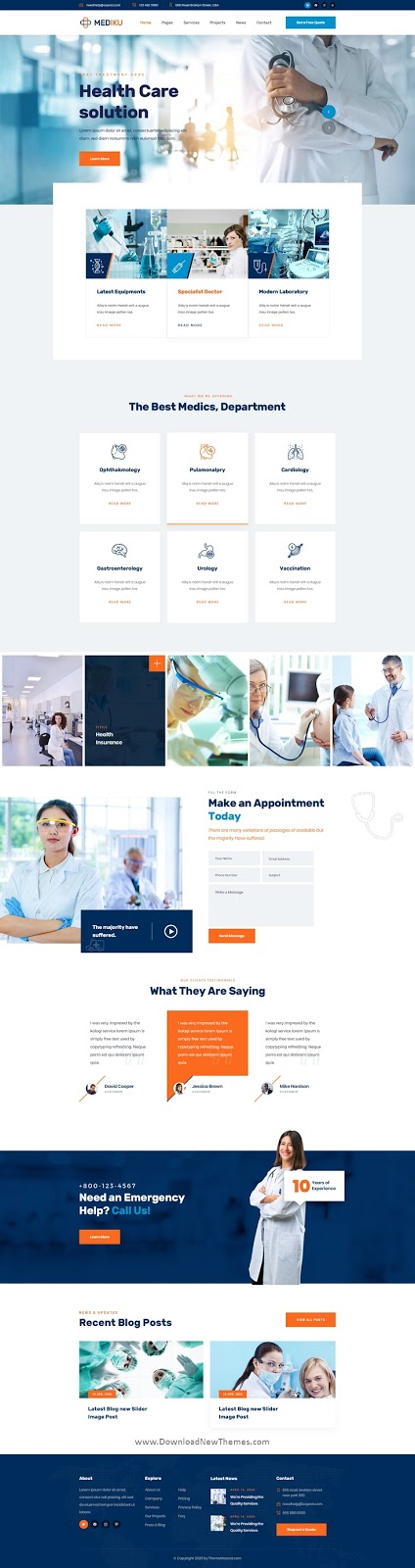 Download Healthcare PSD Template