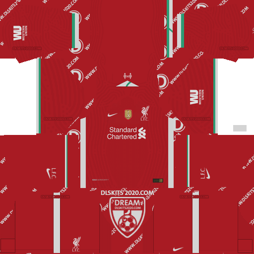 Liverpool Fc Kits 2020-2021 Adidas For Dream League Soccer 2019 (Home)