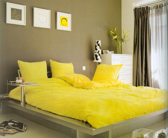 Impressive Grey and Yellow Bedroom Ideas
