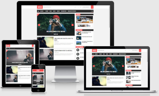Meed Responsive Blogger Templates