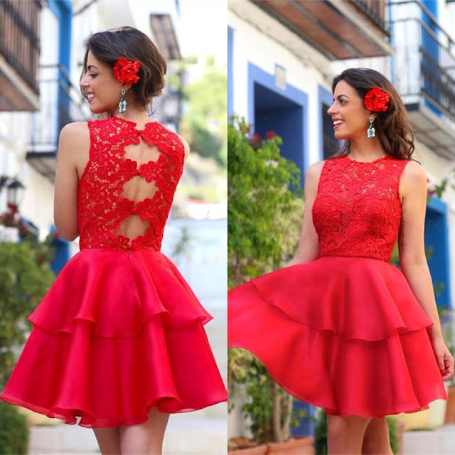 Vestido de Festa Vermelho Vivo