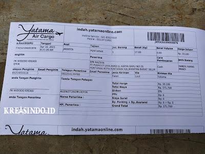 Handrail Kloset Stainless pesanan PT Pubagot Jaya Abadi Kalimantan