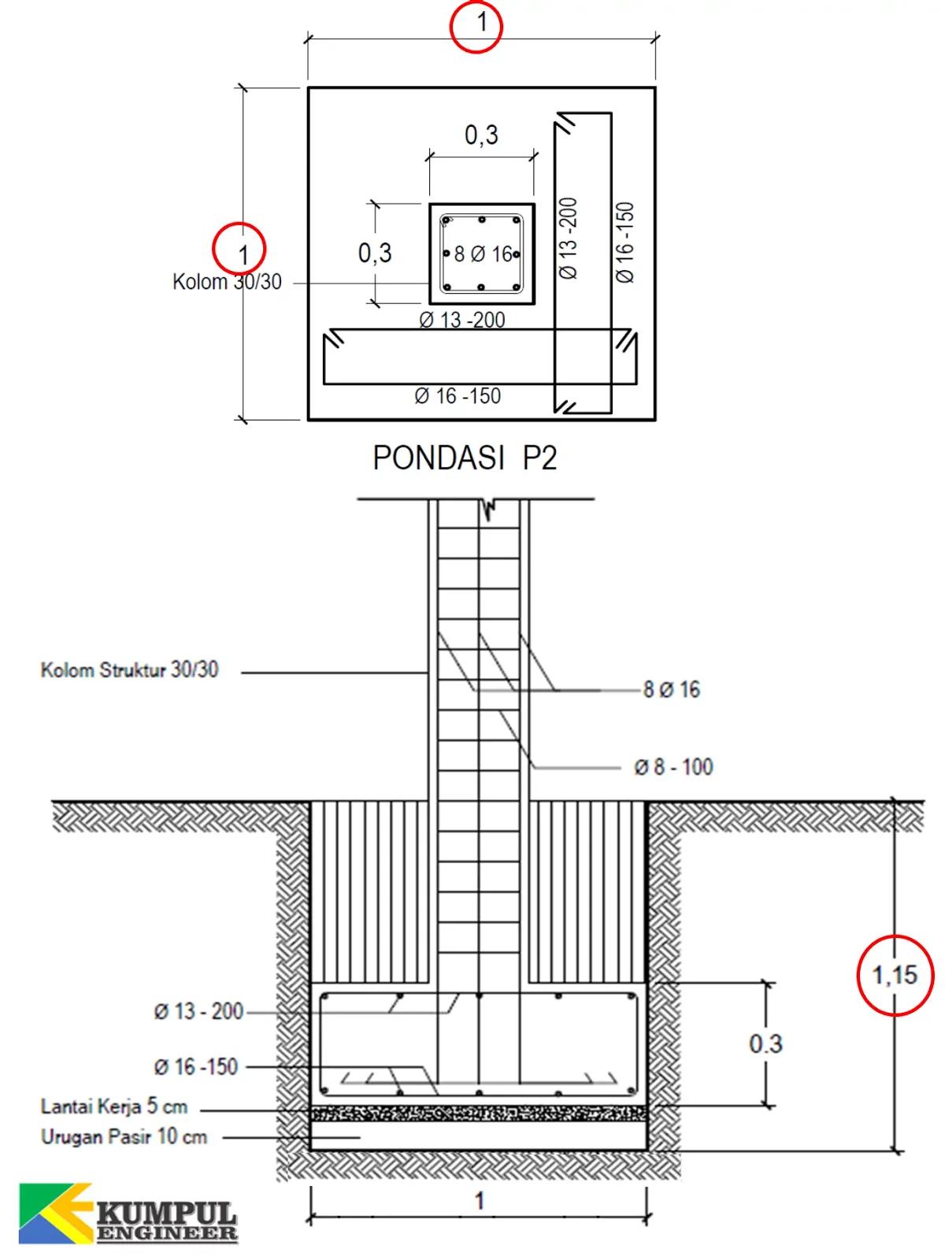Cara Menghitung Volume Galian Struktur Untuk Fondasi Setempat Kumpul Engineer