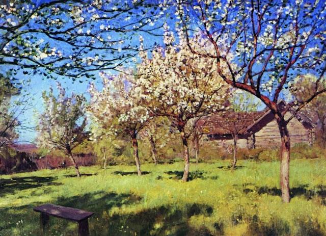 Исаак Ильич Левитан - Цветущие яблони (2). 1896