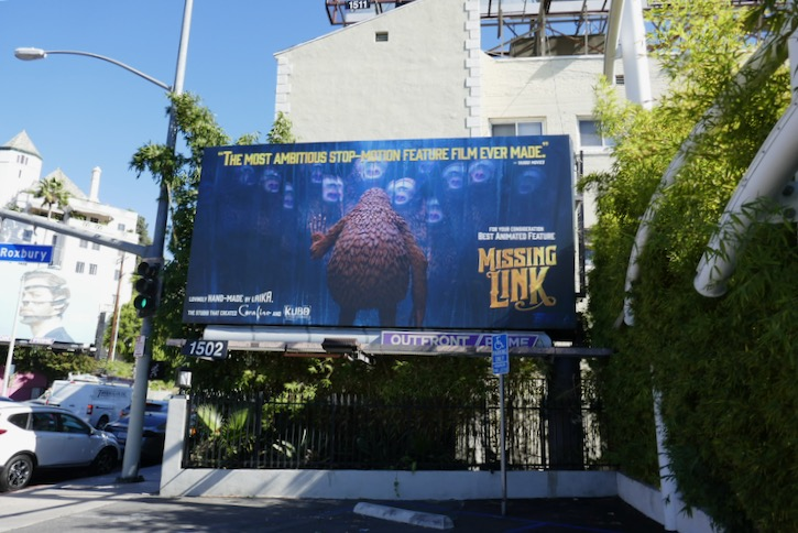 Missing Link movie FYC billboard