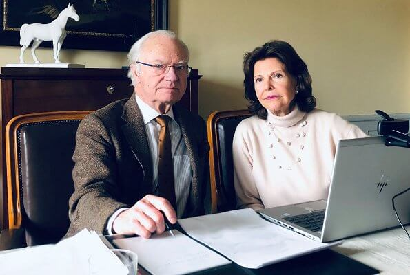 King Carl XVI Gustaf, Queen Silvia, Crown Princess Victoria and Prince Daniel held a meeting for coronavirus pandemic