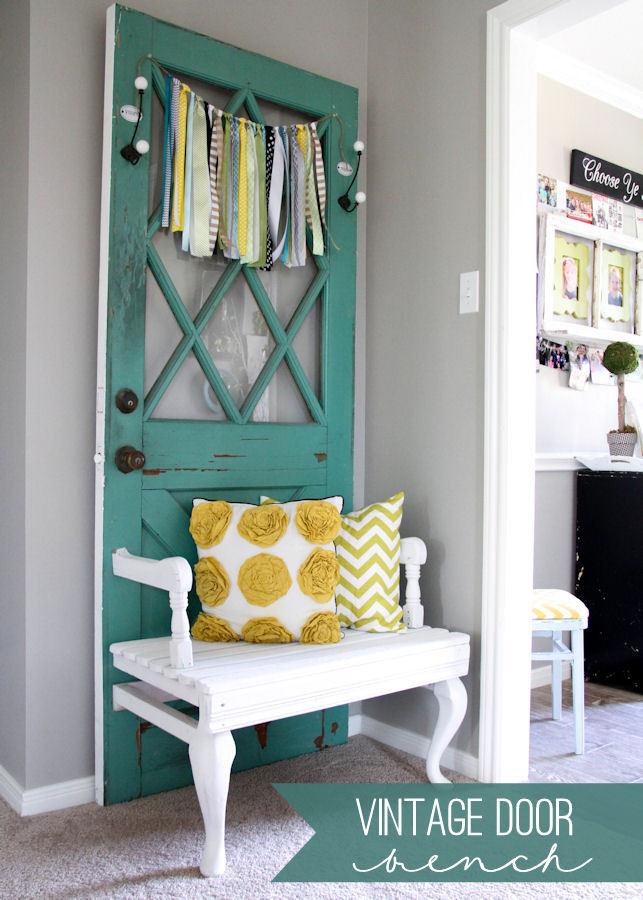 20 idee fai da te per riciclare vecchie porte for Arredare con riciclo fai da te