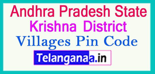 Krishna District Pin Codes in Andhra Pradesh State