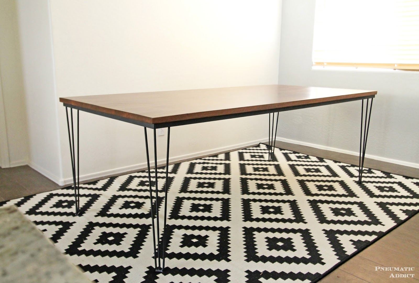 LARGE Hairpin Dining Table | Pneumatic Addict