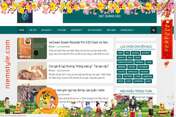 Tổng hợp một số code trang trí tết cho blogspot của bạn