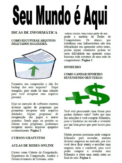 Modelo de Jornal 2 colunas