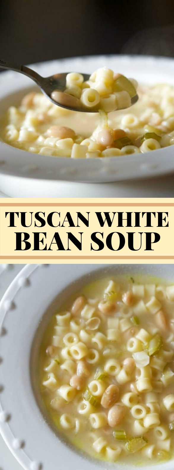 Tuscan White Bean Soup #vegetarian #healthy