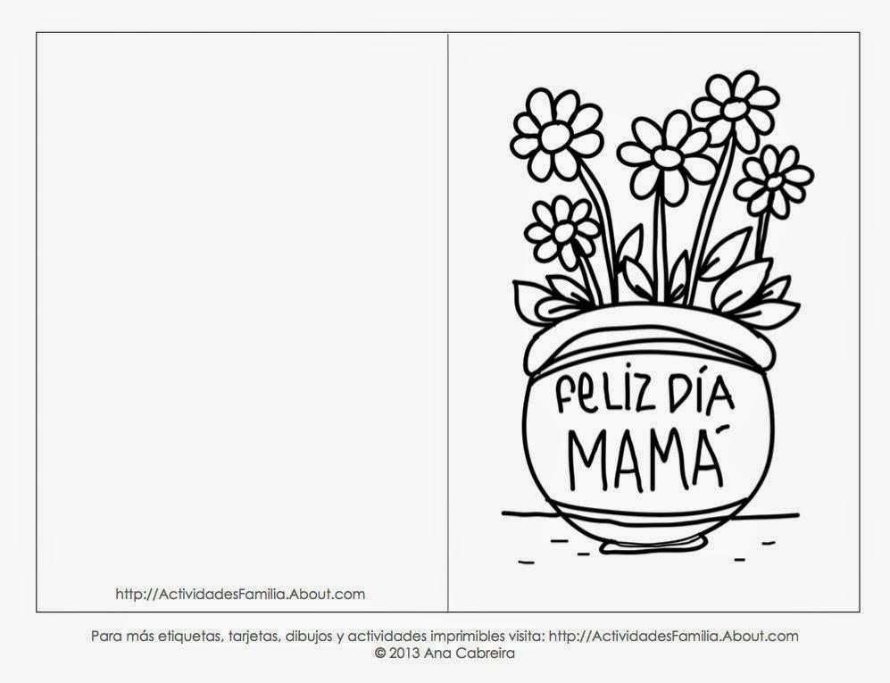 Maestra De Primaria Tarjetas Del Día De La Madre Para Colorear