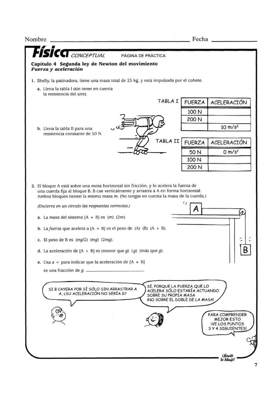 Física IEA Av. Jesús Castillo: Hoja de Trabajo Tercero Básico