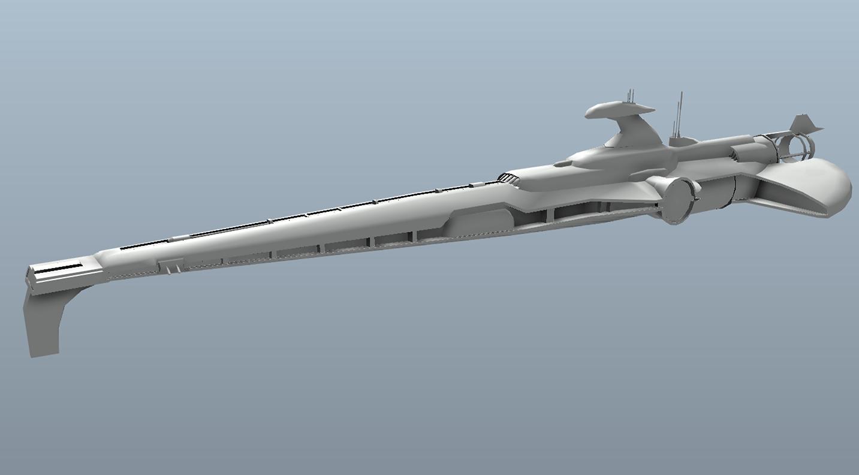 Big Star Wars OBJ Giveaway - ship  3d model
