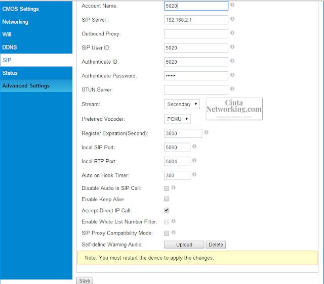 Cara Konfigurasi IP Cаmеrа GXV3615W Cubе Menggunakan IP PBX UCM6102 Dengan Mudah - Cintanetworking.com