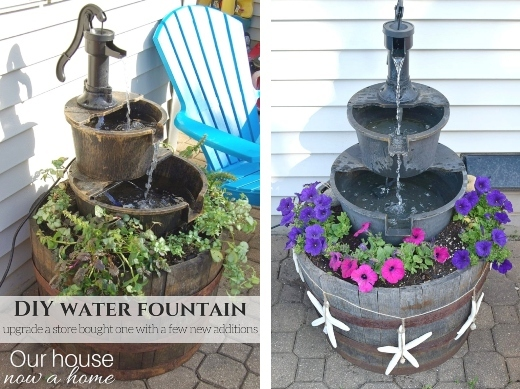 Water Fall Fountain DIY Idea