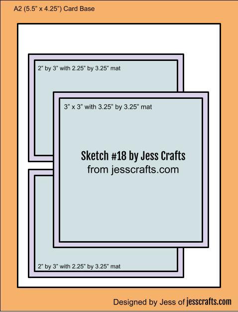 Card Sketch #18 by Jess Crafts