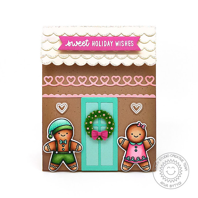 Sunny Studio Stamps: Christmas Cookies Slimline Dies Sweet Treat Bag Dies Christmas Treat Bag by Anja Bytyqi