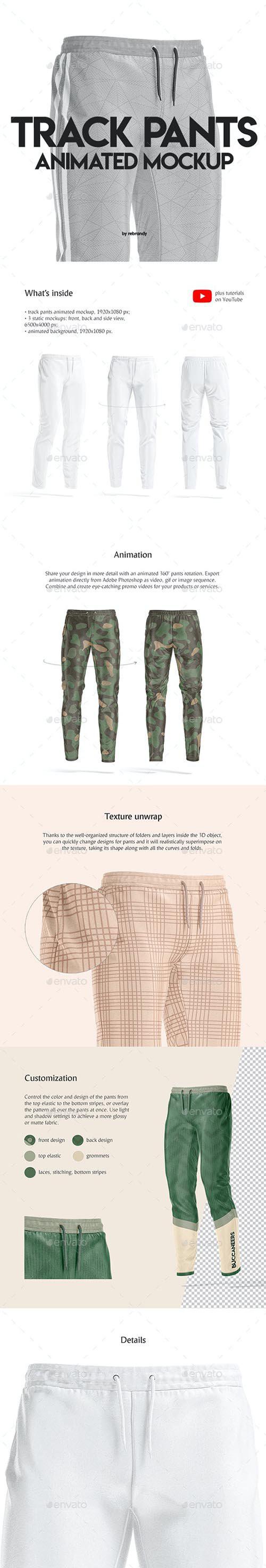 GraphicRiver Track Pants Animated Mockup 32007375..