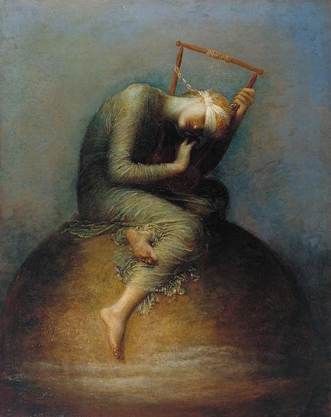 """""""Esperança"""" (1886): pintura do atelier de George Frederic Watts (1817–1904) pertencente à coleção da Tate Britain em Londres, Inglaterra."""