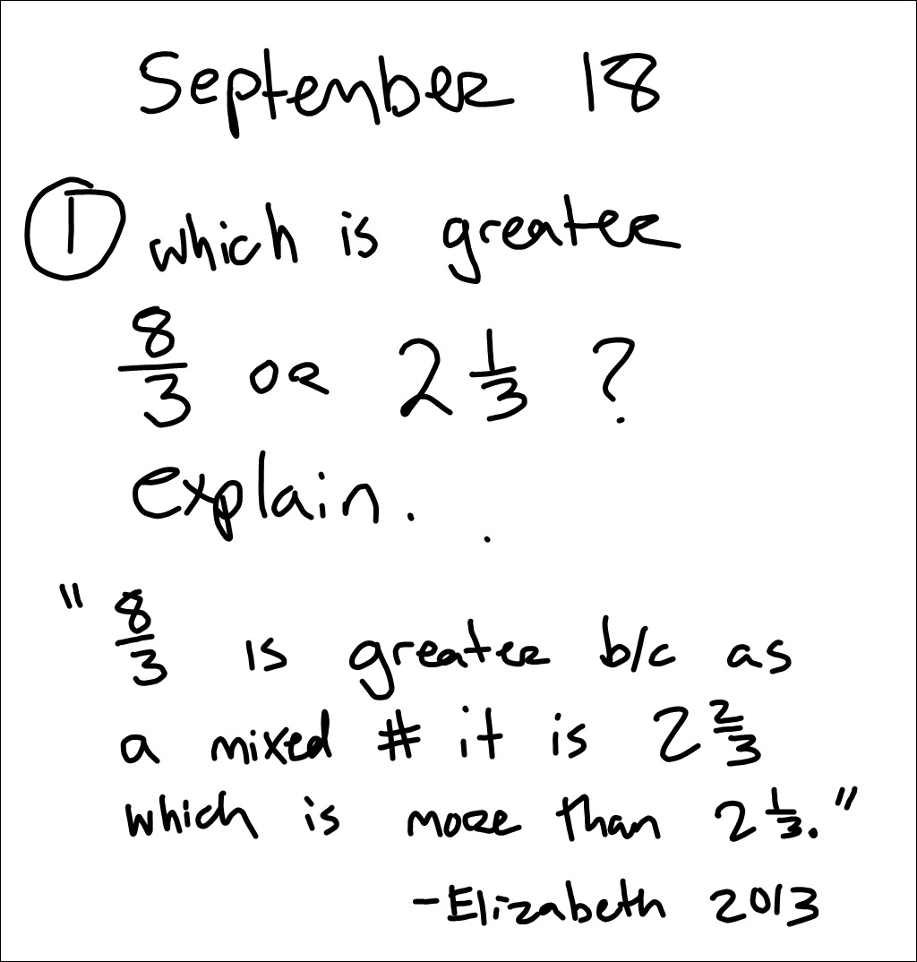 Mr Schoolar Math: 9-18-13 2nd period
