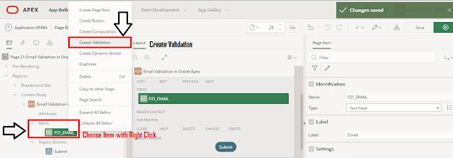 Oracle APEX Email Validation