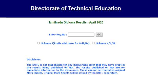 TNDTE Result April 2020