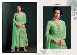 Jay Vijay Lehja Bemberg Silk Salwar Kameez Collection